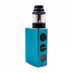 Authentic Asmodus Oni Edition 80W 2800mAh VW Mod + Ohmlette Tank Kit - Blue, 5~80W, 0.4 Ohm / 0.8 Ohm, 24mm Diameter