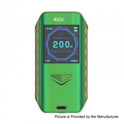 Authentic Digiflavor Edge 200W Wireless Charging TC VW Variable Wattage Box Mod - Green, 5~200W, 2 x 18650
