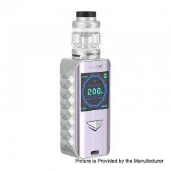 Authentic Digiflavor Edge 200W Wireless Charging TC VW Box Mod + Specter Tank Kit - Silver, 5~200W, 2 x 18650, 5.5ml