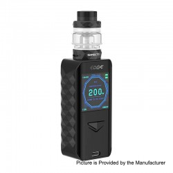 Authentic Digiflavor Edge 200W Wireless Charging TC VW Box Mod + Specter Tank Kit - Black, 5~200W, 2 x 18650, 5.5ml