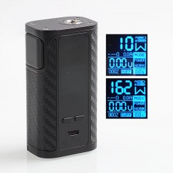 Authentic IJOY Captain 1865 162W TC VW Variable Wattage Box Mod - Mirror Black, 2 x 18650