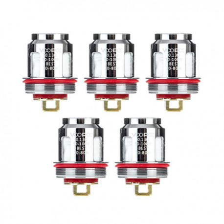Authentic Voopoo N1 Replacement Coil for Uforce / Uforce T2 Tank - 0.13 Ohm (50~100W) (5 PCS)