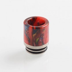 810 Replacement Drip Tip for TFV8 / TFV12 Tank / Goon / Kennedy / Reload RDA - Red, Resin + Stainless Steel, 18.5mm