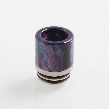 810 Replacement Drip Tip for TFV8 / TFV12 Tank / Goon / Kennedy / Reload RDA - Purple, Resin + Stainless Steel, 18.5mm