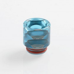 810 Replacement Drip Tip for TFV8 / TFV12 Tank / 528 Goon / Kennedy / Reload RDA - Blue, Resin, 18mm, Glow-in-the-Dark