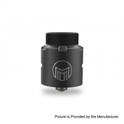 Authentic Acevape Magic Master RDA Rebuildable Dripping Atomizer w/ BF Pin - Black, Stainless Steel, 24mm Diameter