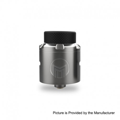 Authentic Acevape Magic Master RDA Rebuildable Dripping Atomizer w/ BF Pin - Silver, Stainless Steel, 24mm Diameter
