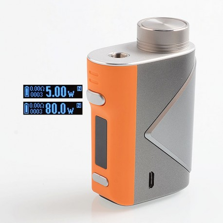 Authentic GeekVape Lucid 80W TC VW Variable Wattage Box Mod - Orange, 5~80W, 1 x 18650
