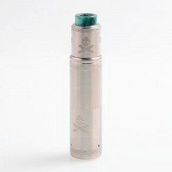 Authentic Vandy Vape Bonza Hybrid Mechanical Tube Mod + Bonza V1.5 RDA Kit - Silver, 1 x 18650 / 20700 / 21700