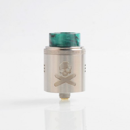 Authentic Vandy Vape Bonza V1.5 RDA Rebuildable Dripping Atomizer w/ BF Pin - Silver, 24mm Diameter