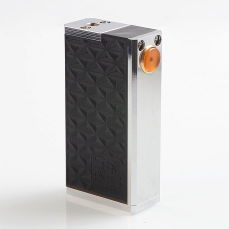 SOB OG Parallel Style Hybrid Mechanical Box Mod - Black, Stainless Steel + POM, 2 x 18650