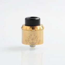 Apocalypse 25 Style RDA Rebuildable Dripping Atomizer w/ BF Pin - Gold, Stainless Steel, 25mm Diameter