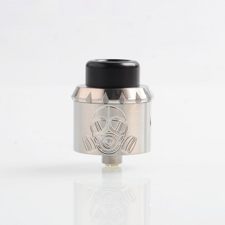 Apocalypse 25 Style RDA Rebuildable Dripping Atomizer w/ BF Pin - Silver, Stainless Steel, 25mm Diameter