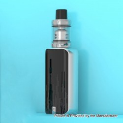 Authentic Vaporesso Luxe Nano 80W 2500mAh TC VW Box Mod + SKRR-S Mini Tank Kit - Silver, 5~80W, 0.15 Ohm, 3.5ml