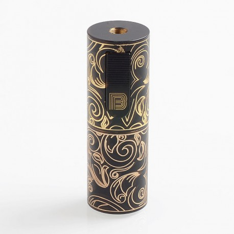 Vapeasy Mini B MiniB Style Mechanical Tube Mod Limited Edition - Black, Brass, 1 x 18650