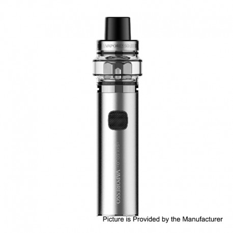 Authentic Vaporesso Sky Solo 1400mAh Starter Kit - Silver, 0.18 Ohm, 3.5ml, 26mm Diameter