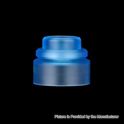 Authentic Gas Mods Replacement Color Cap for Nova RDA - Transparent Blue, PMMA