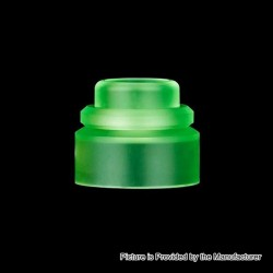 Authentic Gas Mods Replacement Color Cap for Nova RDA - Transparent Green, PMMA