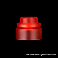 Authentic Gas Mods Replacement Color Cap for Nova RDA - Transparent Red, PMMA