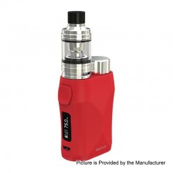 Authentic Eleaf iStick Pico X 75W TC VW Box Mod + MELO 4 Tank Kit - Red, 1~75W, 1 x 18650, 2ml, 0.15 Ohm