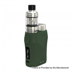 Authentic Eleaf iStick Pico X 75W TC VW Box Mod + MELO 4 Tank Kit - Green, 1~75W, 1 x 18650, 2ml, 0.15 Ohm