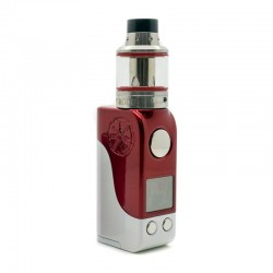 Authentic Asmodus Mini Minikin 50W TC VW Box Mod + Ohmlette Tank Kit - Red White, 5~50W, 1 x 18500, 0.4 Ohm / 0.8 Ohm