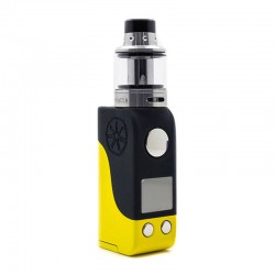 Authentic Asmodus Mini Minikin 50W TC VW Box Mod + Ohmlette Tank Kit - Yellow Black, 5~50W, 1 x 18500, 0.4 Ohm / 0.8 Ohm