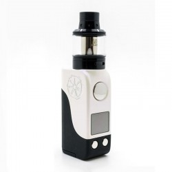Authentic Asmodus Mini Minikin 50W TC VW Box Mod + Ohmlette Tank Kit - White Black, 5~50W, 1 x 18500, 0.4 Ohm / 0.8 Ohm