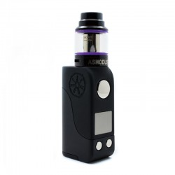 Authentic Asmodus Mini Minikin 50W TC VW Box Mod + Ohmlette Tank Kit - Black, 5~50W, 1 x 18500, 0.4 Ohm / 0.8 Ohm