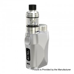 Authentic Eleaf iStick Pico X 75W TC VW Box Mod + MELO 4 Tank Kit - Silver, 1~75W, 1 x 18650, 2ml, 0.15 Ohm