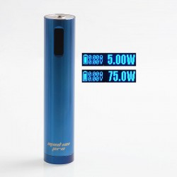 Authentic Ehpro Mod 101 Pro 75W TC VW Variable Wattage Tube Mod - Blue, Stainless Steel, 5~75W, 1 x 18650 / 20700 / 21700