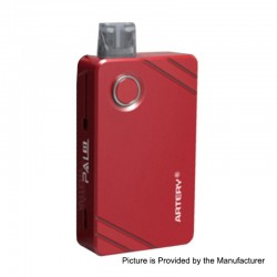 Authentic Artery Pal 2 1000mAh Pod System Starter Kit - Red, Aluminum, 2ml, 0.6 Ohm / 1.2 Ohm