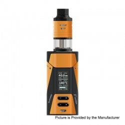Authentic Ehpro 2-in-1 Fusion 150W TC VW Mod + Fusion RDTA Kit - Orange Black, 0~150W, 2 x 18650, 2ml x 2