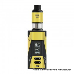 Authentic Ehpro 2-in-1 Fusion 150W TC VW Mod + Fusion RDTA Kit - Yellow Black, 0~150W, 2 x 18650, 2ml x 2