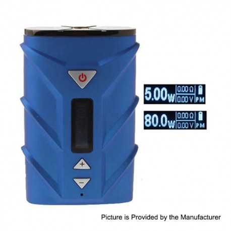 Authentic Ehpro SPD A8 80W 4000mAh TC VW Variable Wattage Box Mod - Blue, PC + Zinc Alloy, 5~80W