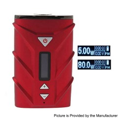 Authentic Ehpro SPD A8 80W 4000mAh TC VW Variable Wattage Box Mod - Red, PC + Zinc Alloy, 5~80W