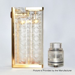 SOB S3 Style Mechanical Box Mod + Outlaw Style RDA Kit - Transparent, PC + Brass + Stainless Steel, 2 x 18650