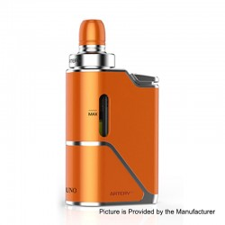 Authentic Artery Uno 1500mah All in One Starter Kit - Orange, 3.5ml, 0.7 Ohm