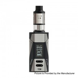 Authentic Ehpro 2-in-1 Fusion 150W TC VW Mod + Fusion RDTA Kit - Gun Metal Black, 0~150W, 2 x 18650, 2ml x 2
