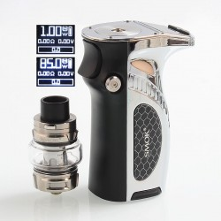 Authentic SMOKTech SMOK Mag Grip 100W TC VW Mod + TFV8 Baby V2 Tank Kit - Prism Chrome Black, 1~100W, 1 x 18650 / 20700 / 21700