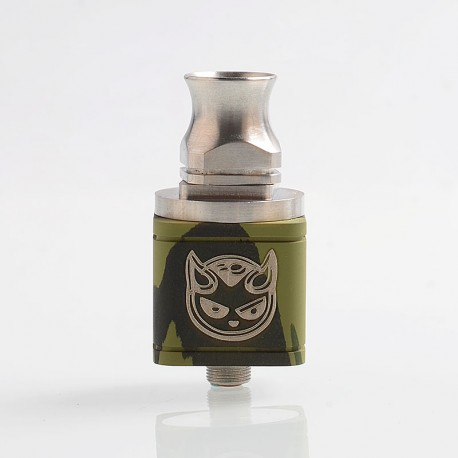 Hellboy Style RDA Rebuildable Dripping Atomizer - Camo, Stainless Steel, 22.5mm Diameter