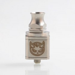 Hellboy Style RDA Rebuildable Dripping Atomizer - Silver, Stainless Steel, 22.5mm Diameter