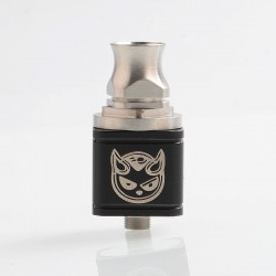Hellboy Style RDA Rebuildable Dripping Atomizer - Black, Stainless Steel, 22.5mm Diameter