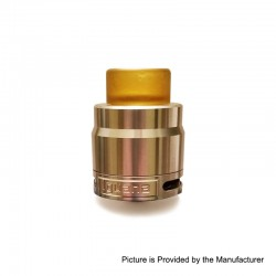 Authentic Ehpro Iguana RDA Rebuildable Dripping Atomizer w/ BF Pin - Silver, Stainless Steel, 24.5mm Diameter
