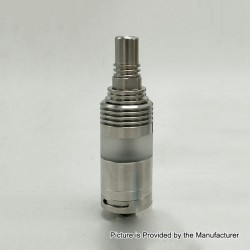 Coppervape Ka V6 Long Tank Style MTL RTA Rebuildable Tank Atomizer - Silver, 316 Stainless Steel, 5.6ml, 22mm Diameter