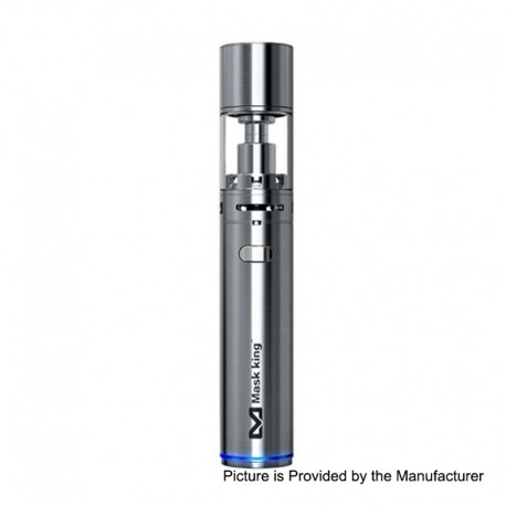 Authentic Maskking Mini Tank 16W 1800mAh Battery Mod Starter Kit - Silver, Stainless Steel, 2ml, 1.0 / 1.5 Ohm