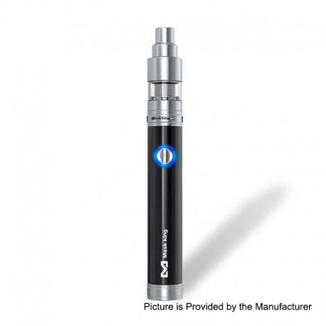 Authentic Maskking Guardian 1000mAh Starter Kit - Black, Stainless Steel, 2ml, 16.5mm Diameter