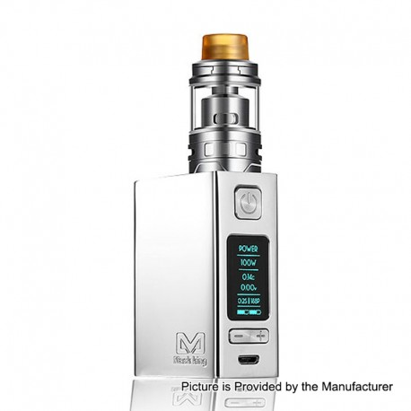 Authentic Maskking T-More 2800mAh 100W TC VW Variable Wattage Box Mod + Piston RDA Kit - Silver, 5~100W