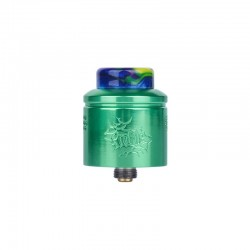 Authentic Wotofo Profile RDA Rebuildable Dripping Atomizer w/ BF Pin - Green, Aluminum, 24mm Diameter