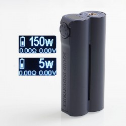 Authentic Squid Industries Double Barrel V3 3.0 150W VW Variable Wattage Box Mod - Navy Blue, 2 x 18650